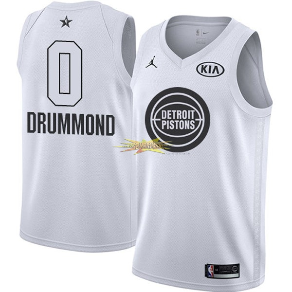Nouveau Maillot NBA 2018 All Star NO.0 Andre Drummond Blanc