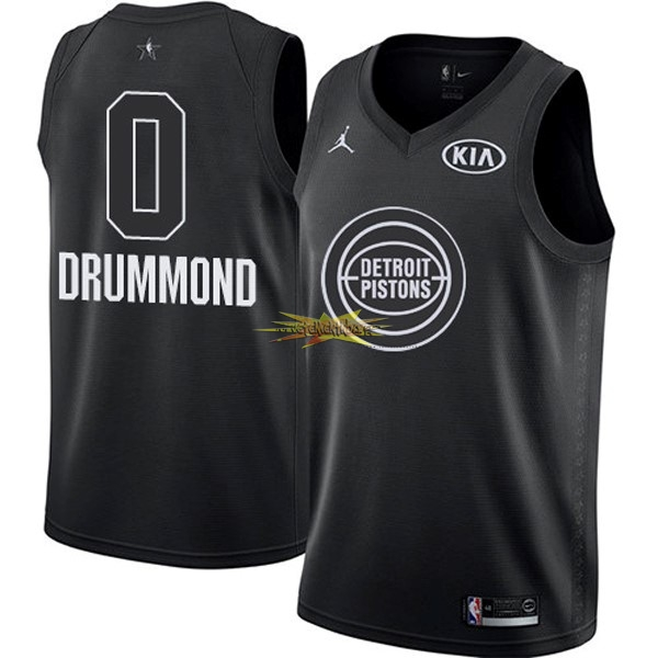 Nouveau Maillot NBA 2018 All Star NO.0 Andre Drummond Noir