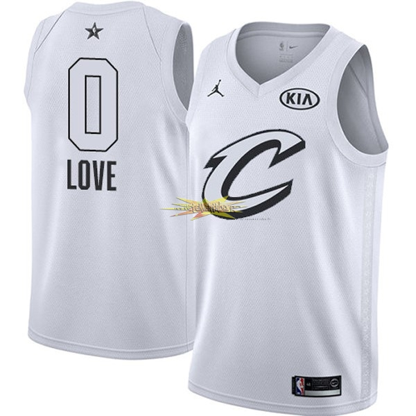 Nouveau Maillot NBA 2018 All Star NO.0 Kevin Love Blanc