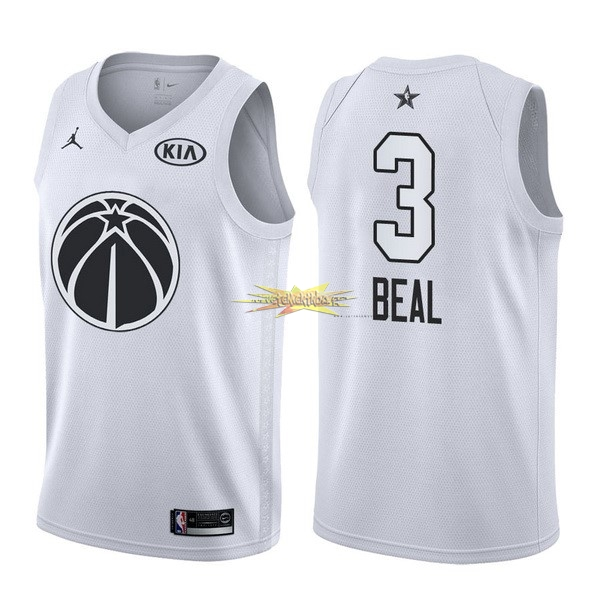 Nouveau Maillot NBA 2018 All Star NO.3 Bradley Beal Blanc
