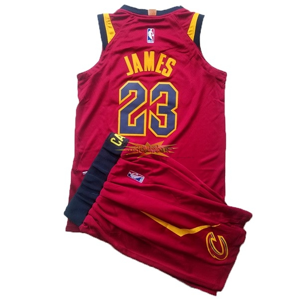 Nouveau Maillot NBA Ensemble Complet Enfant Cleveland Cavaliers NO.23 LeBron James Rouge 2017-18