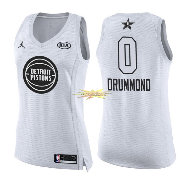 Nouveau Maillot NBA Femme 2018 All Star NO.0 Andre Drummond Blanc