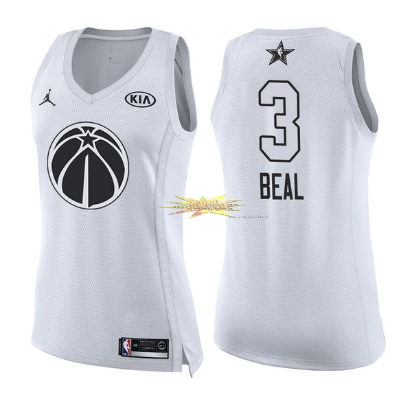 Nouveau Maillot NBA Femme 2018 All Star NO.3 Bradley Beal Blanc