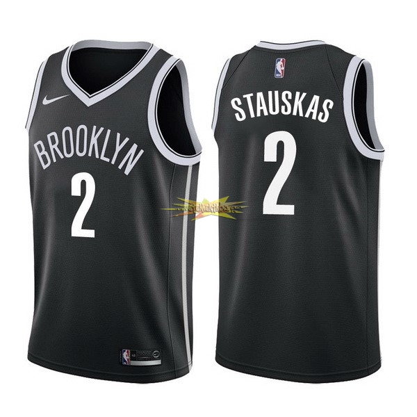 Nouveau Maillot NBA Nike Brooklyn Nets NO.2 Akil Mitchell Noir Icon