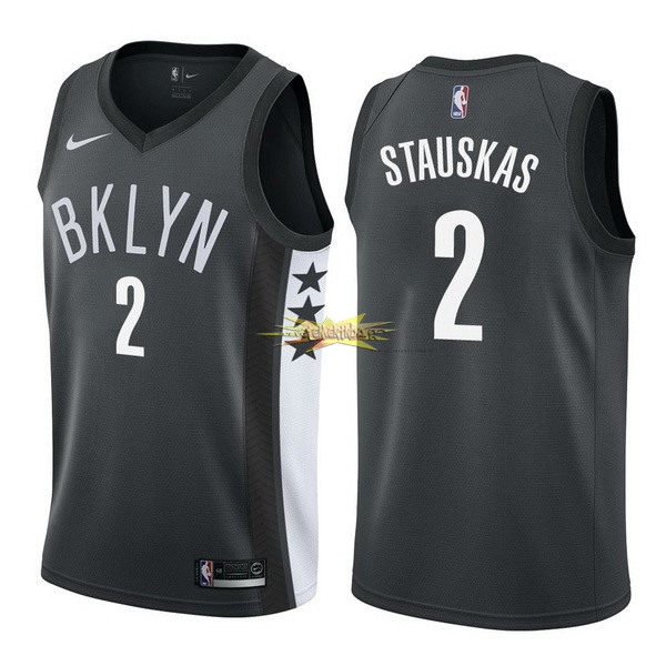 Nouveau Maillot NBA Nike Brooklyn Nets NO.2 Akil Mitchell Noir Statement