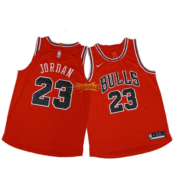 Nouveau Maillot NBA Nike Chicago Bulls NO.23 Michael Jordan Rouge Icon