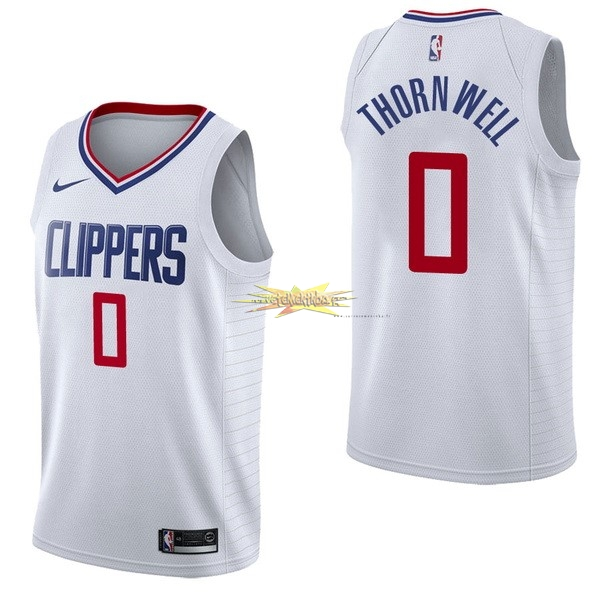 Nouveau Maillot NBA Nike Los Angeles Clippers NO.0 Sindarius Thornwell Blanc Association