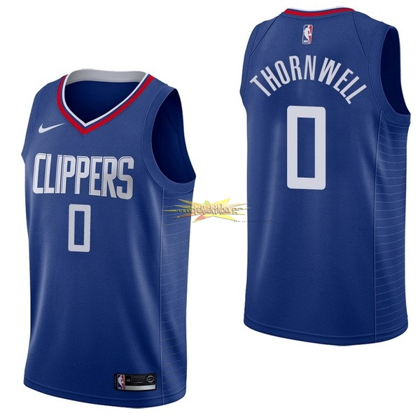 Nouveau Maillot NBA Nike Los Angeles Clippers NO.0 Sindarius Thornwell Bleu Icon