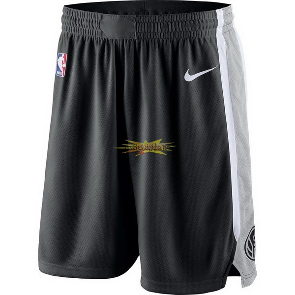 Nouveau Short Basket Brooklyn Nets Nike Gris