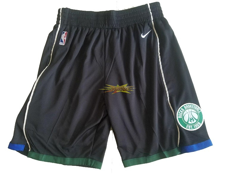 Nouveau Short Basket Milwaukee Bucks Nike Noir