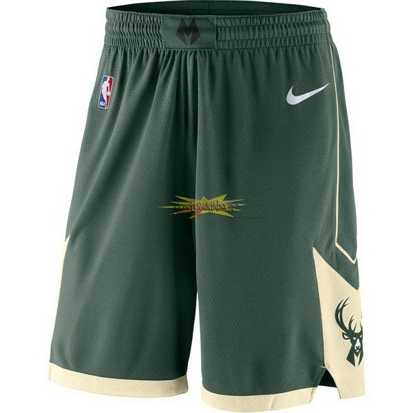 Nouveau Short Basket Milwaukee Bucks Nike Vert