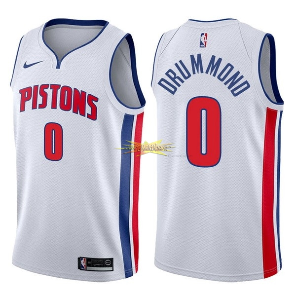 Nouveau Maillot NBA Nike Detroit Pistons NO.0 Andre Drummond Blanc Association 2017-18