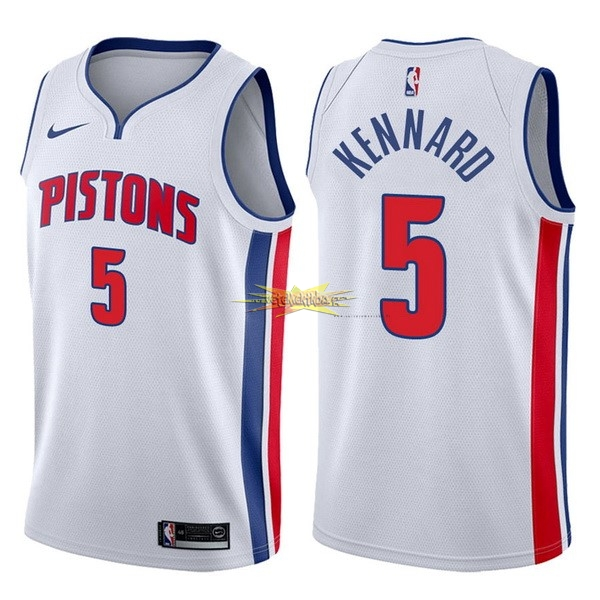 Nouveau Maillot NBA Nike Detroit Pistons NO.5 Luke Kennard Blanc Association 2017-18