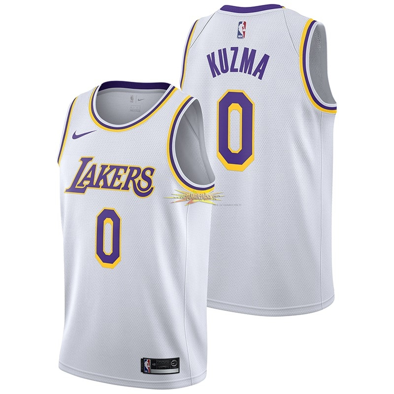 Nouveau Maillot NBA Nike Los Angeles Lakers NO.0 Kyle Kuzma Blanc Association 2018-19