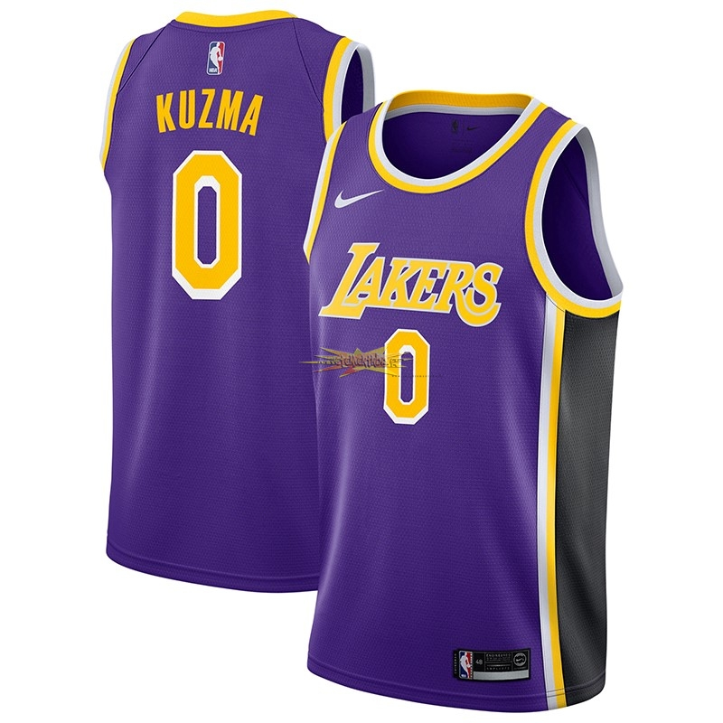 Nouveau Maillot NBA Nike Los Angeles Lakers NO.0 Kyle Kuzma Pourpre Statement 2018-19