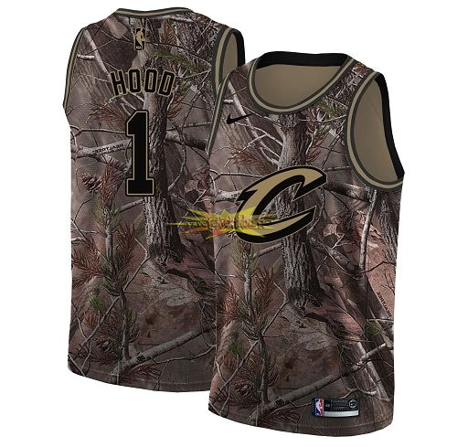 Nouveau Maillot NBA Cleveland Cavaliers NO.1 Rodney Hood Camo Swingman Collection Realtree 2018