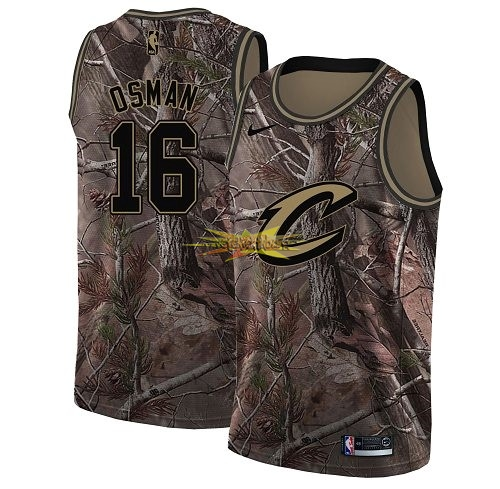 Nouveau Maillot NBA Cleveland Cavaliers NO.16 Cedi Osman Camo Swingman Collection Realtree 2018