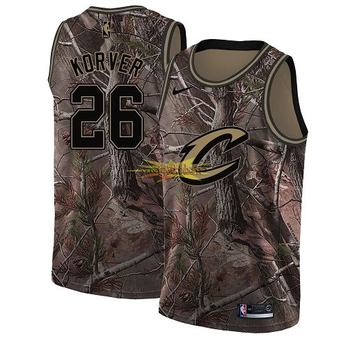Nouveau Maillot NBA Cleveland Cavaliers NO.26 Kyle Korver Camo Swingman Collection Realtree 2018