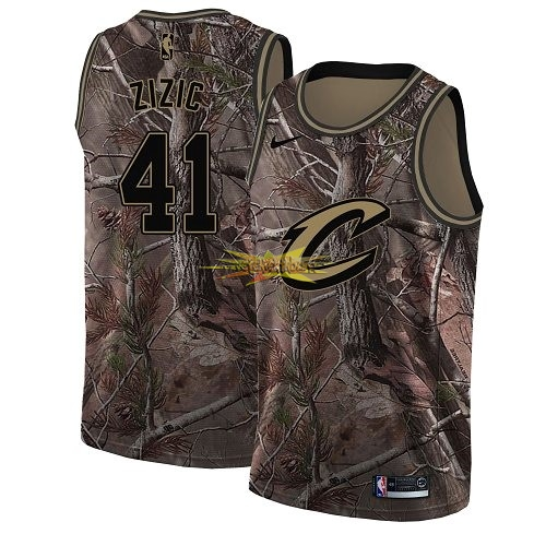 Nouveau Maillot NBA Cleveland Cavaliers NO.41 Ante Zizic Camo Swingman Collection Realtree 2018