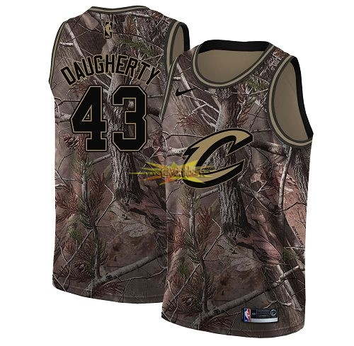 Nouveau Maillot NBA Cleveland Cavaliers NO.43 Brad Daugherty Camo Swingman Collection Realtree 2018