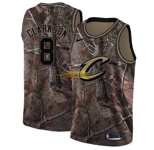 Nouveau Maillot NBA Cleveland Cavaliers NO.8 Jordan Clarkson Camo Swingman Collection Realtree 2018