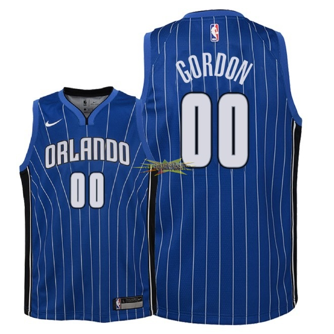 Nouveau Maillot NBA Enfant Orlando Magic NO.0 Aaron Gordon Bleu Icon 2018