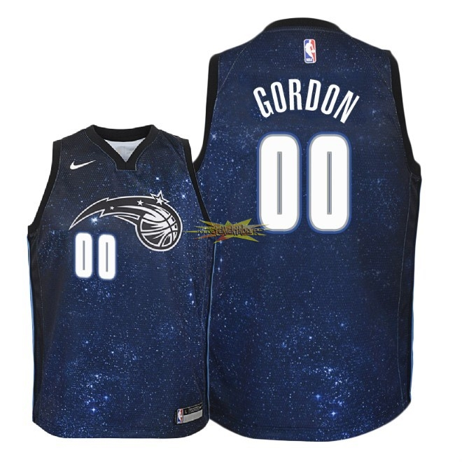 Nouveau Maillot NBA Enfant Orlando Magic NO.0 Aaron Gordon Nike Marine Ville 2018