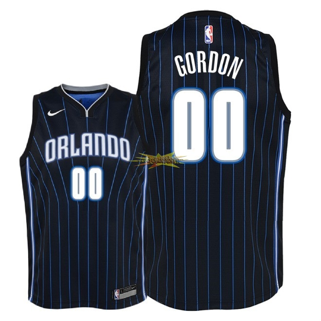 Nouveau Maillot NBA Enfant Orlando Magic NO.0 Aaron Gordon Noir Statement 2018