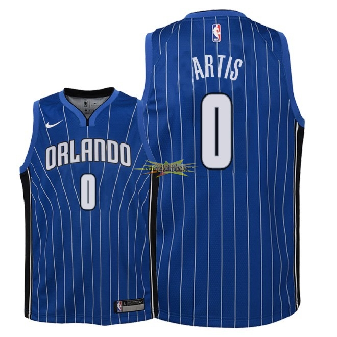 Nouveau Maillot NBA Enfant Orlando Magic NO.0 Jamel Artis Bleu Icon 2018
