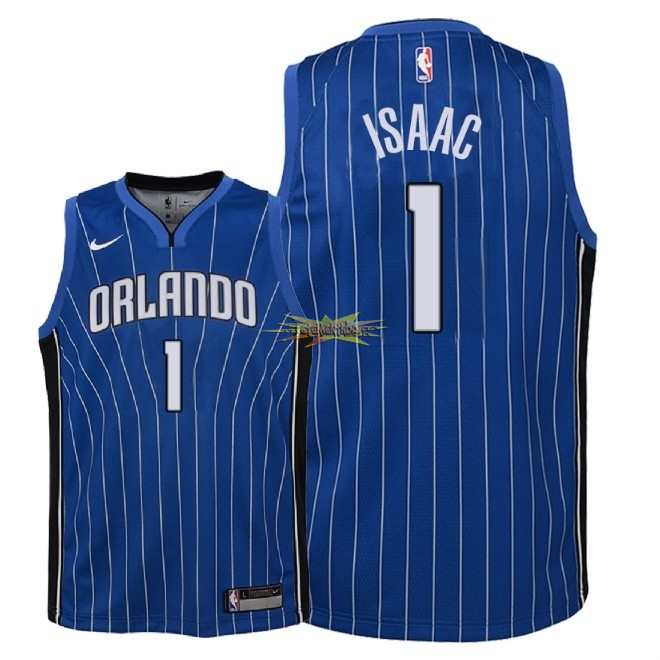 Nouveau Maillot NBA Enfant Orlando Magic NO.1 Jonathan Isaac Bleu Icon 2018