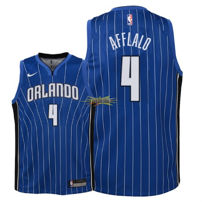 Nouveau Maillot NBA Enfant Orlando Magic NO.4 Arron Afflalo Bleu Icon 2018