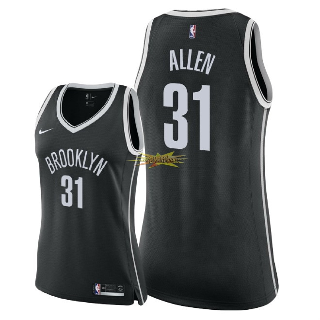 Nouveau Maillot NBA Femme Brooklyn Nets NO.31 Jarrett Allen Noir Icon 2018