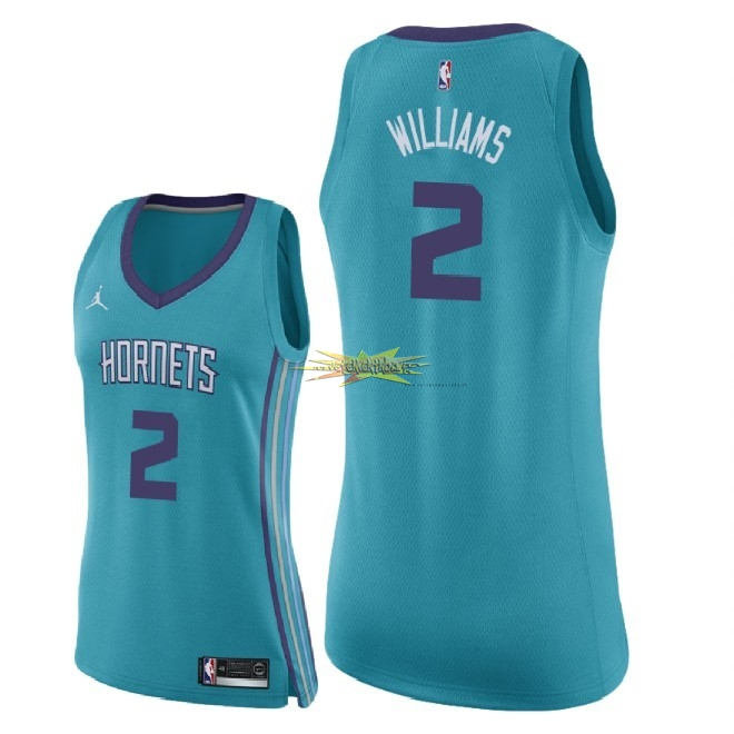 Nouveau Maillot NBA Femme Charlotte Hornets NO.2 Marvin Williams Vert Icon 2018