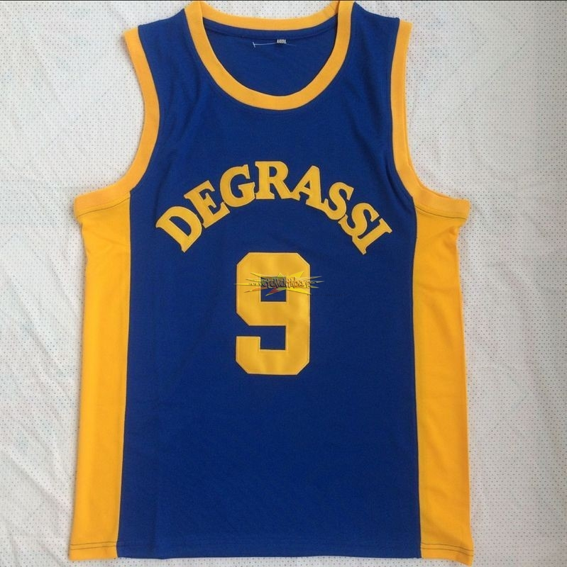 Nouveau Maillot NBA Film Basket-Ball Jimmy Brooks NO.9 Degrassi Bleu