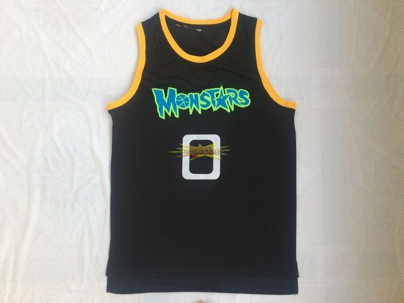 Nouveau Maillot NBA Film Basket-Ball Monstars NO.0 Alien Noir