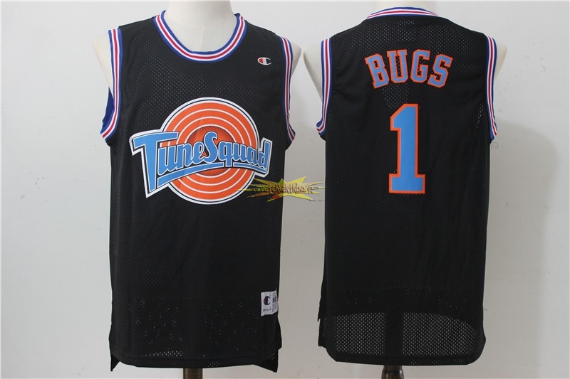 Nouveau Maillot NBA Film Basket-Ball Tune Escuadra NO.1 Bugs Noir