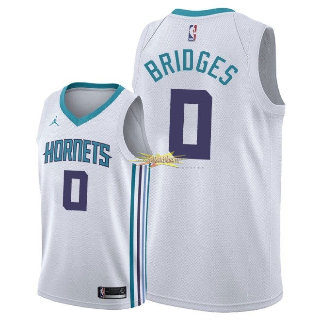 Nouveau Maillot NBA Nike Charlotte Hornets NO.0 Miles Bridges Blanc Association 2018