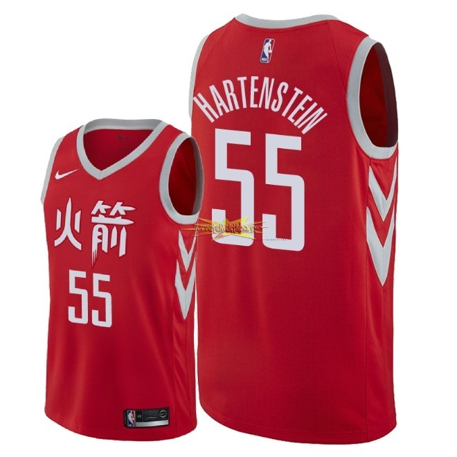Nouveau Maillot NBA Nike Houston Rockets NO.55 Isaiah Hartenstein Nike Rouge Ville 2018