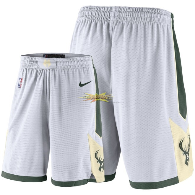 Nouveau Short Basket Milwaukee Bucks Nike Blanc 2018