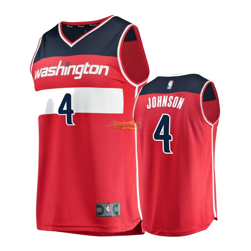 Nouveau Maillot NBA Enfant Washington Wizards NO.4 Wesley Johnson Rouge Icon
