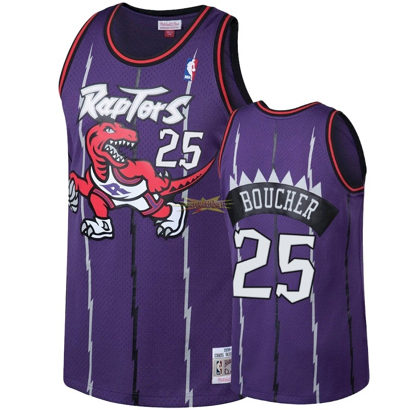 Nouveau Maillot NBA Toronto Raptors NO.25 Chris Boucher Pourpre Hardwood Classic 1998-99