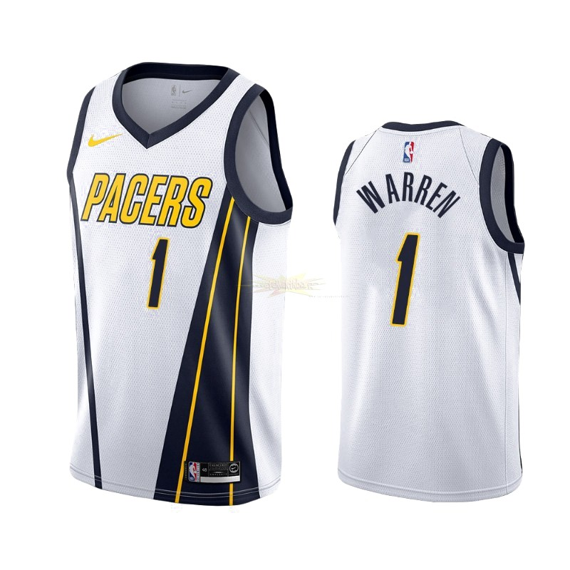 Nouveau Maillot Earned Edition Indiana Pacers NO.26 T.J. Warren Gray Blanc 2019-20