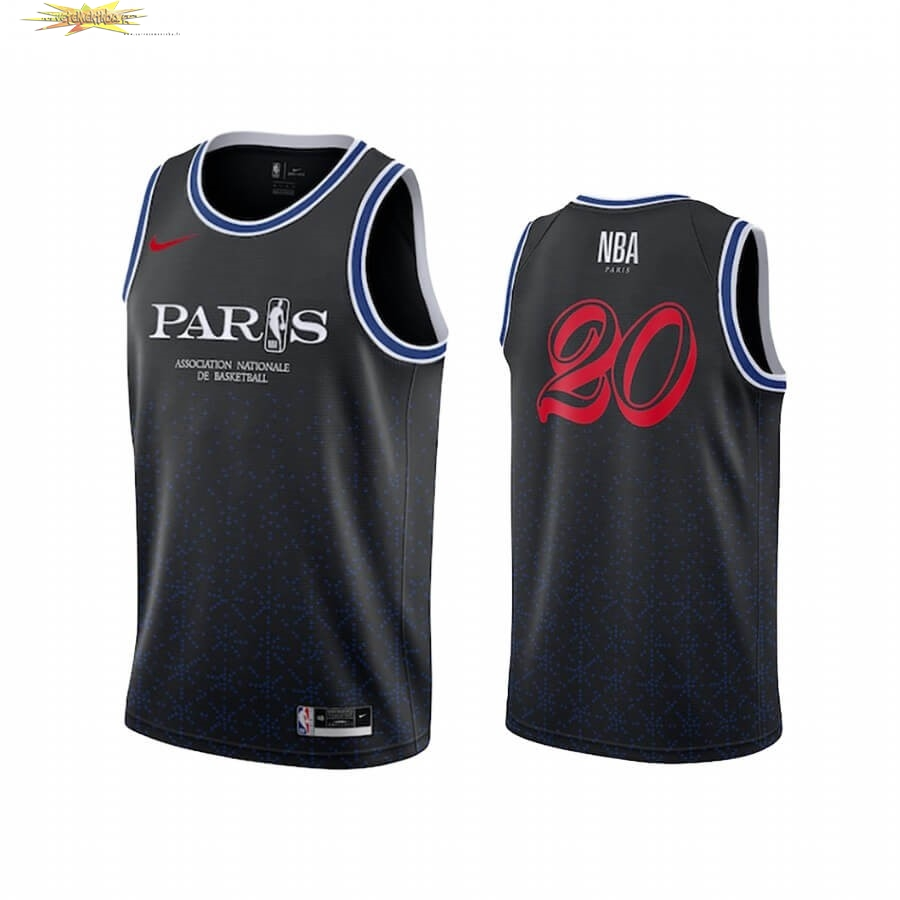 Nouveau Maillot Collaboration Maillot Basket-ball Paris X 2020 NBA Team 31 Noir