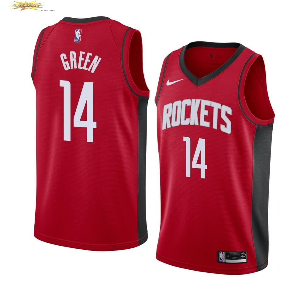 Nouveau Maillot NBA Nike Houston Rockets NO.14 Gerald Green Rouge Icon 2019-20