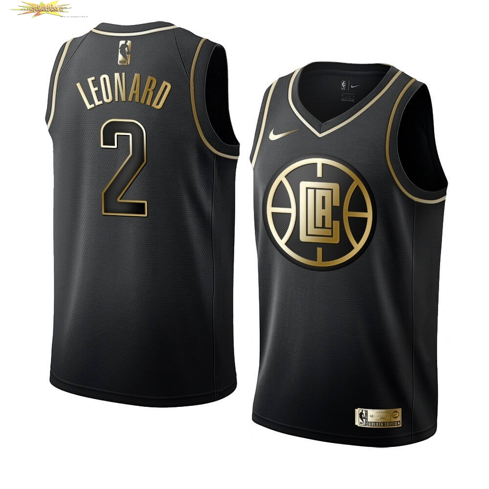 Nouveau Maillot NBA Nike Los Angeles Clippers NO.2 Kawhi Leonard Or Edition 2019-20