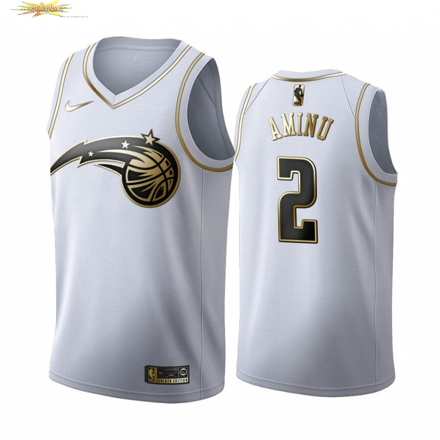 Nouveau Maillot NBA Nike Orlando Magic NO.2 Al-Farouq Aminu Blanc Or 2019-20