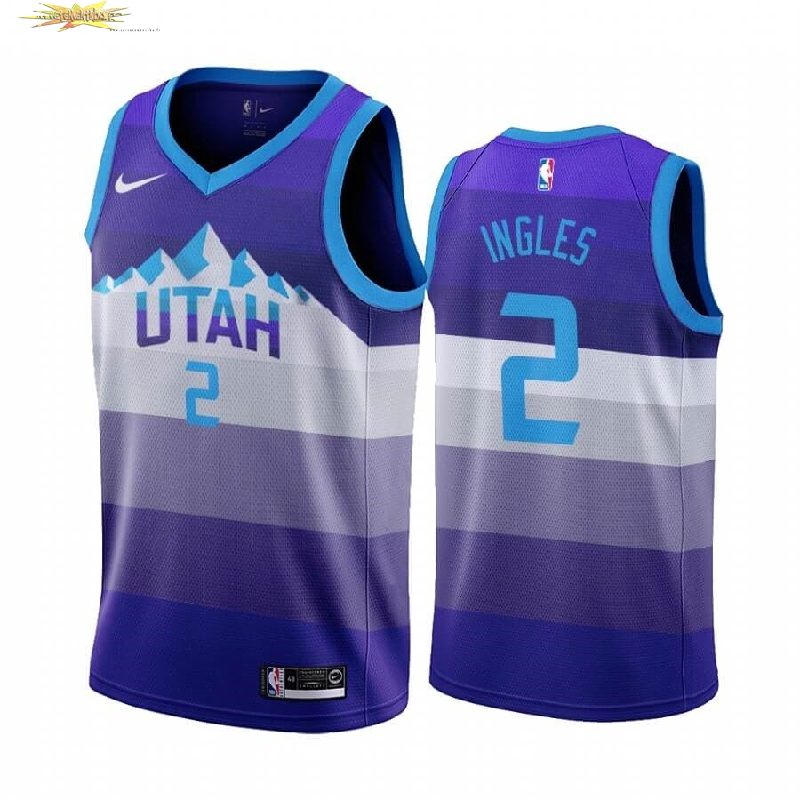 Nouveau Maillot NBA Utah Jazz NO.2 Joe Ingles Pourpre Throwback