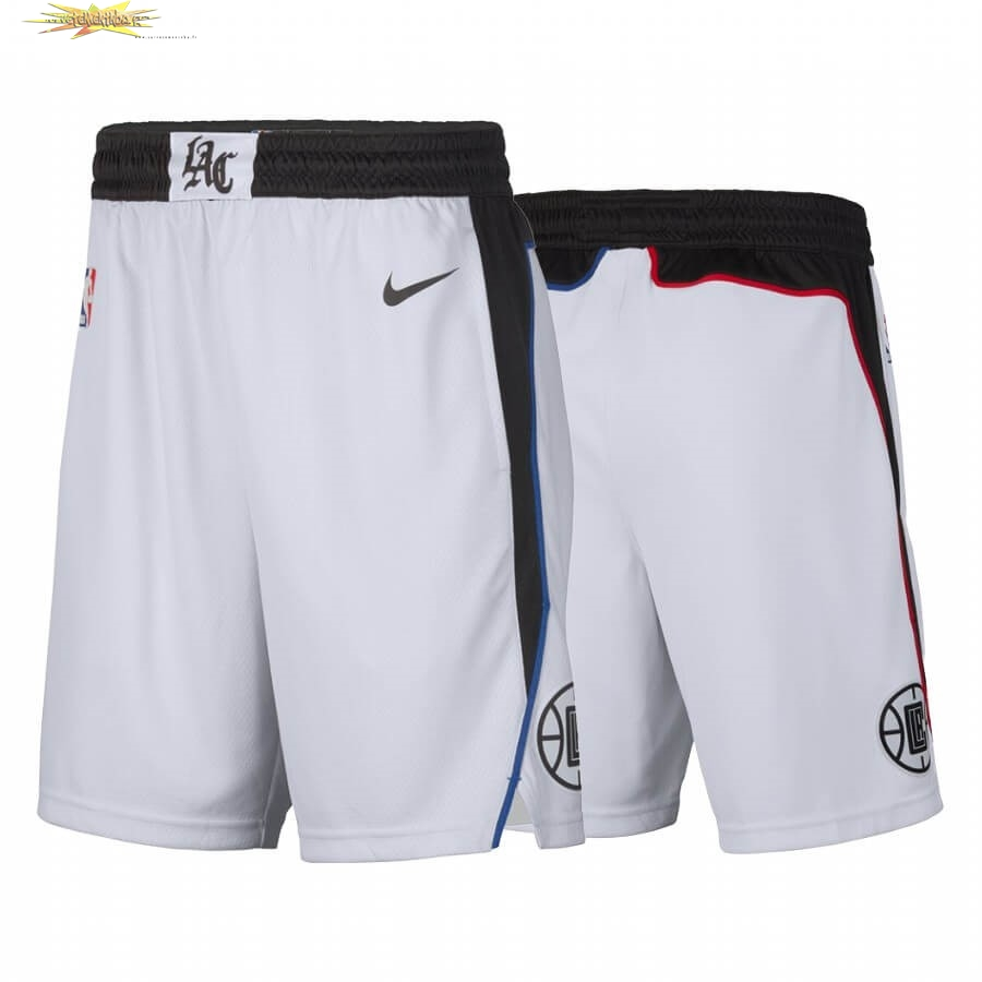 Nouveau Short Basket Los Angeles Clippers Nike Blanc Ville 2019-20
