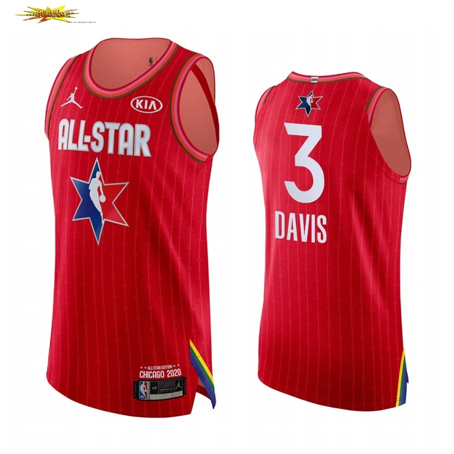 Maillot NBA 2020 All Star NO.3 Anthony Davis Rouge
