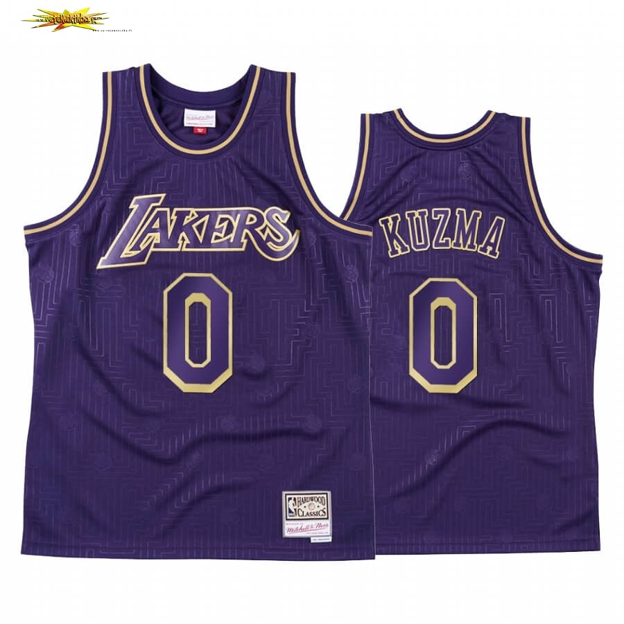 Maillot NBA CNY Throwback Huston Rockets NO.0 Kyle Kuzma Pourpre 2020